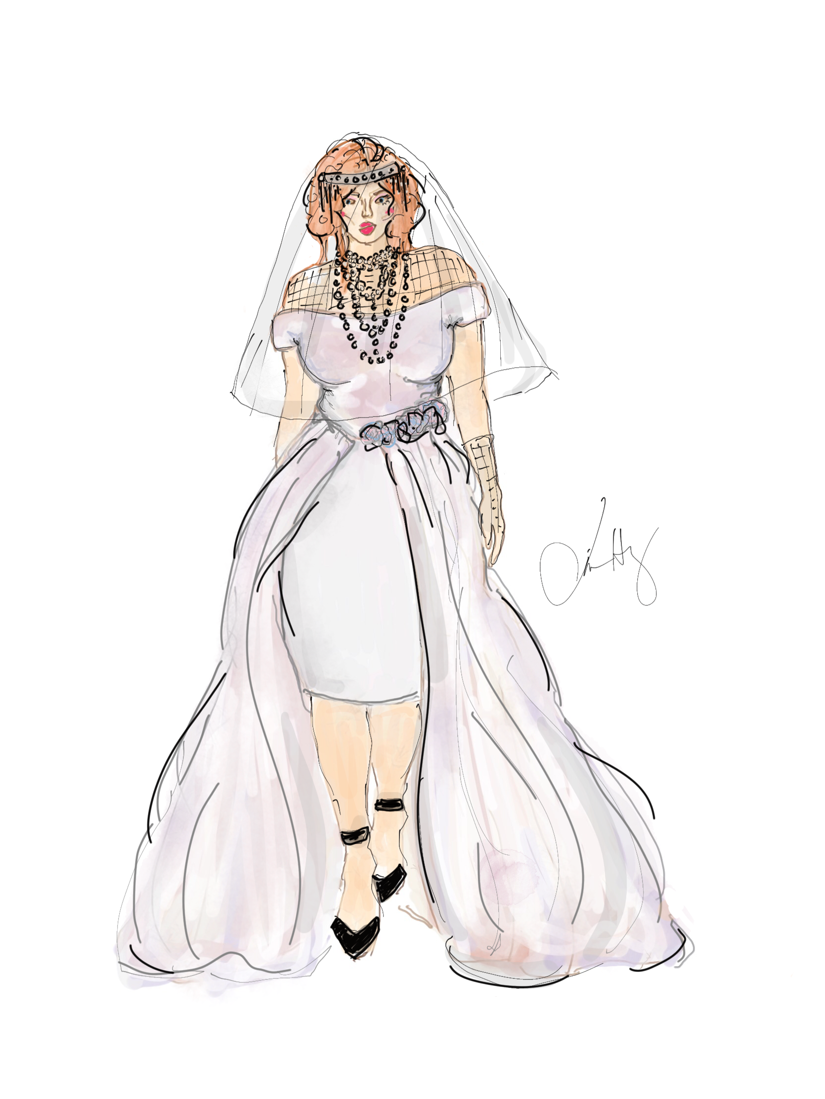 costume and fashion drawing